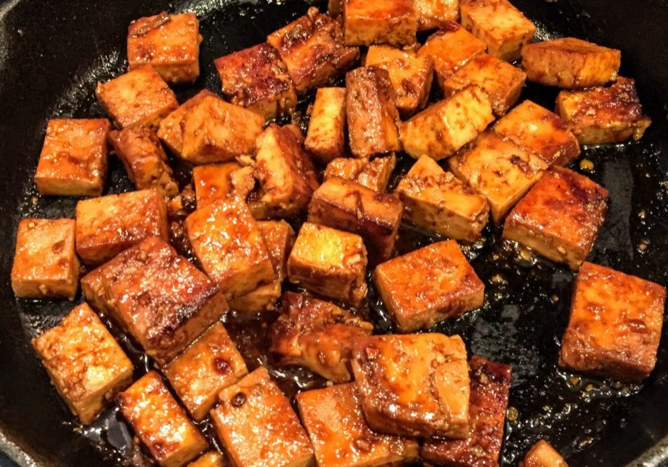 Tofu, smoky and spicy